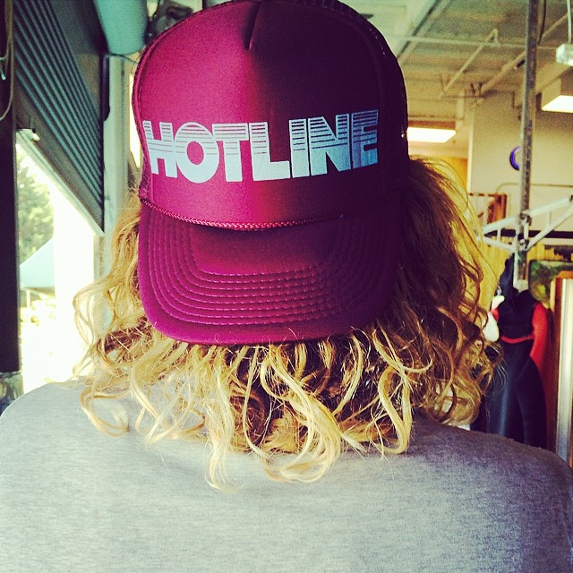 ~90's logo hats at the Hotline Showroom @wiermino ~ #Throwback #HotlineWetsuits #SantaCruz #90s