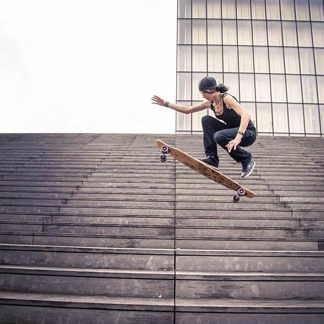 Cécile Lahaie shot by @mari_aprilfool for @girlsinlongboarding #longboardgirlscrew #girlswhoshred #girlsinlongboarding