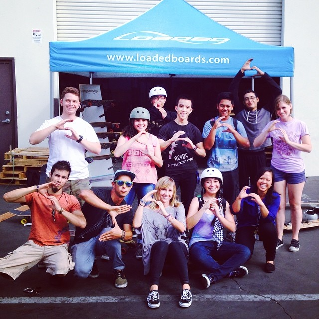 Our STOKED LA summer program stopped by @loadedboards for a tour of the warehouse and a skate sesh with the Loaded crew. We are stoked!! @loadedboards #stokedla #skateboarding #stoked4life #stokedsummer #summerofstoked