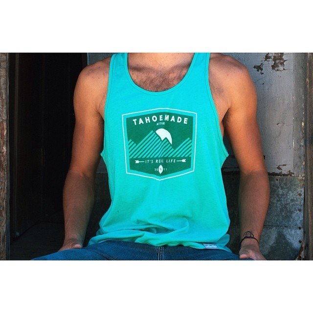 The Lakewood Tank // Garment-dyed in the depths of Lake Tahoe // #tahoemade #thisistahoe #sunsoutgunsout