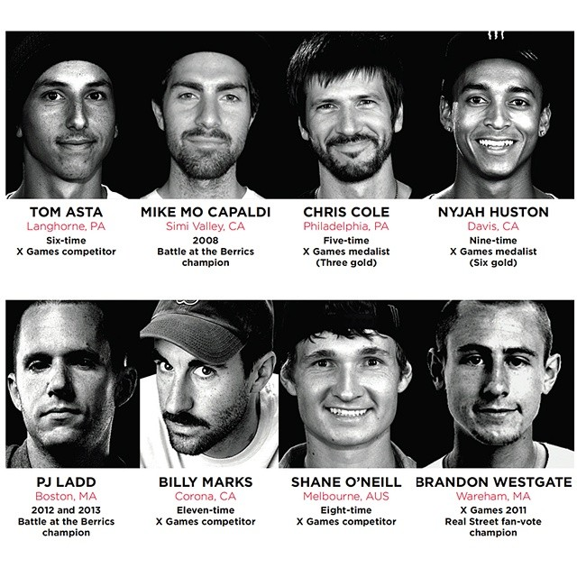 The resumes of the eight athletes competing in the #ESPNGameOfSkate are impressive!  Action from the ESPN headquarters in Bristol, CT, begins tomorrow at 10 am ET on ESPN3. @monsterenergy