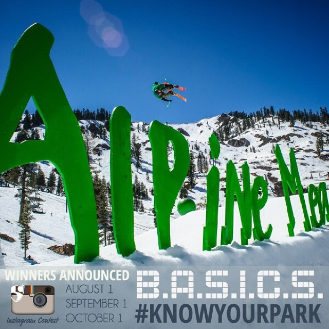 Be like @nickgoepper and #knowyourpark this year | #TBT to TRAiNS at @skialpine in 2013 | First winner announced tomorrow, stay tuned