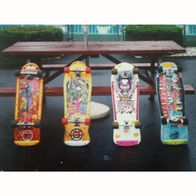Back when boards had nothing to do with popsicles. Can you name all four makes and models? Bonus points for naming the overload of plastic accessories. #tbt #throwbackthursday