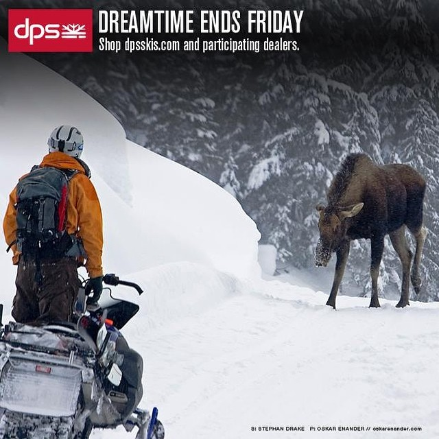 The end of the road for #dpsdreamtime is tomorrow: your last chance to get the year's only discount on all 14/15 #skis, including Special Editions.  Shop dpsskis.com and participating dealers worldwide through Friday. P. @oskar_enander.