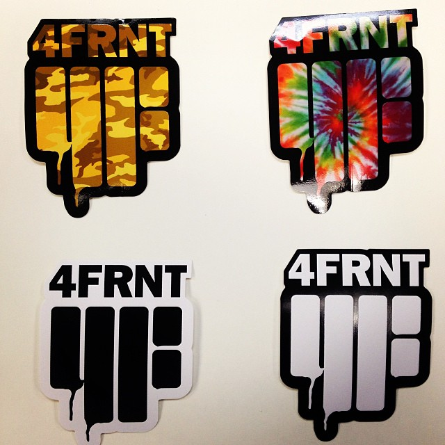 New stickers coming every day! Send a SASE to: 4FRNT Skis Attn: Sticker Bitch 2900 S West Temple SLC, UT 84115