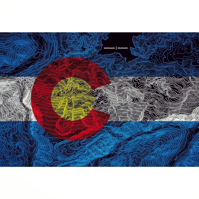 "SNOWMASS!  Print of the Day Giveaway... LIKE and COMMENT to enter.  We are very excited to announce that ""Mapping Colorado"" shirts are in the works!  #kinddesign #colorado #topography #snowmass #art #design  #liveyourdream"
