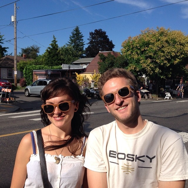 Enjoying the sun in Portland, Oregon! Get a pair of these sunglasses at our Kickstarter campaign http://ow.ly/zM5Sa #kickstarter #instagood #instafashion #style #summer #bosky