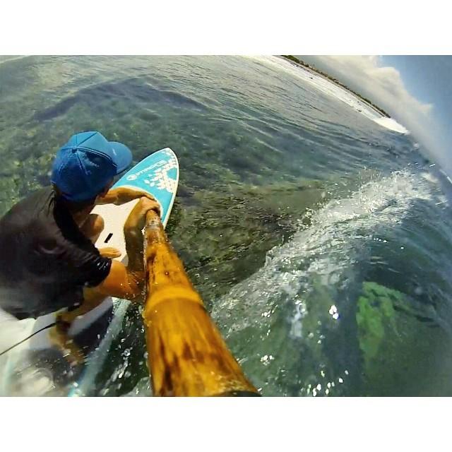 Having fun with the #gopro #tbt #bamboopaddle #naturescarbonfiber #paddlehawaii #itakebioastin #lifeinhifi
