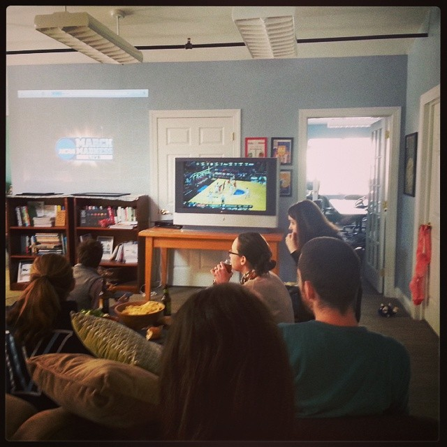 Taking a break from certifications to celebrate the start of March Madness at the B Lab offices!