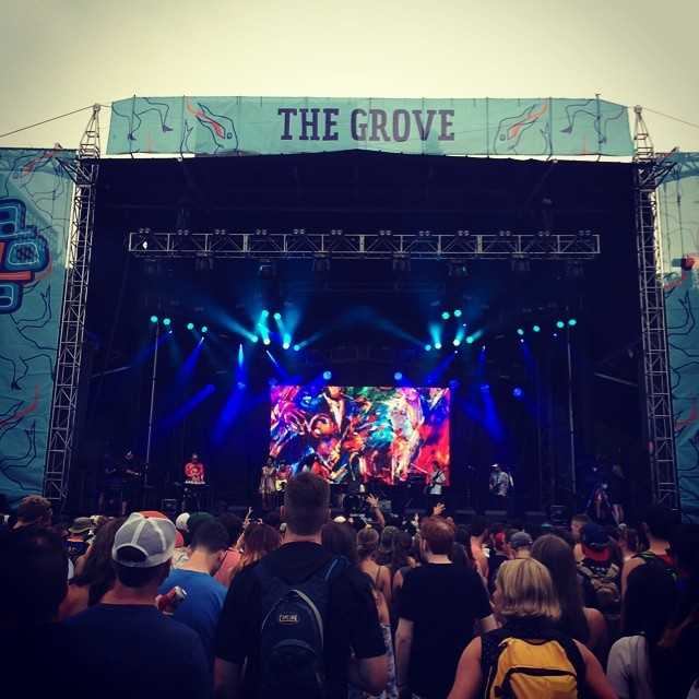 Playing #hooky today. First day of #lollapalooza. #bloodorange is #killinit #lolla2014