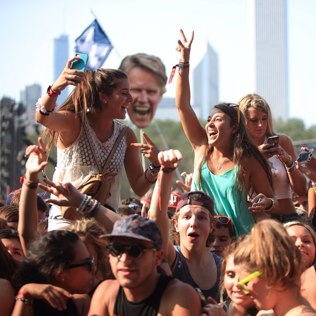 Gary Busey is always watching... #Lolla