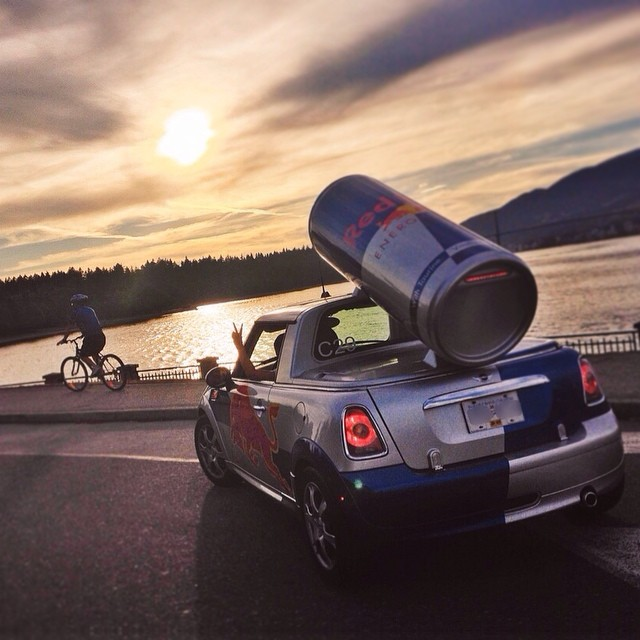 Peace out, the weekend is here! #RedBullMini