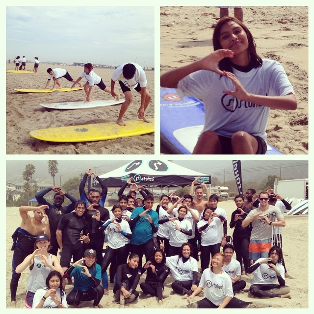 Stoked LA had an epic Surf Mentor! Our youth are quickly improving their skills and catching waves. Thank you to all of our volunteers for coming out and surfing with us. We are stoked! #stokedla #stoked #surfmentor #summerofstoked #mailbumakos