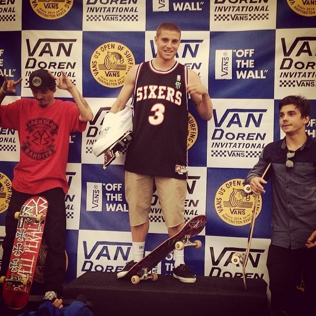El podio del #vandoreninvitational término con Murillo, Charlie Blair y el campeón Raven Tershy #skate #vansusopen #vans #bowl