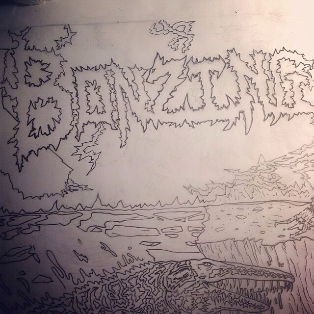 Team rider Chad Lybrand--@ragnars_world working on a new graphic!  #bonzing #sanfrancisco #shapers #artists