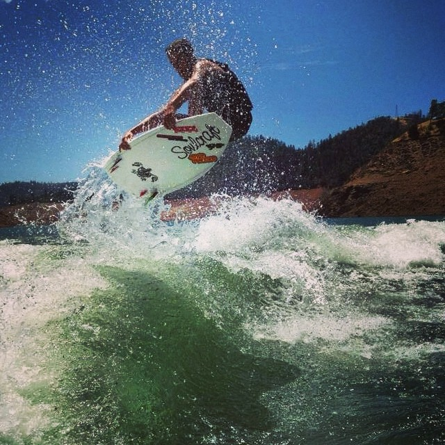 Photo of the day, Hunter Clement airing it out on his SoulCraft! See daily wakesurfing videos and photos at slayshTank.com #wakesurf #wakesurfing #keepitfresh