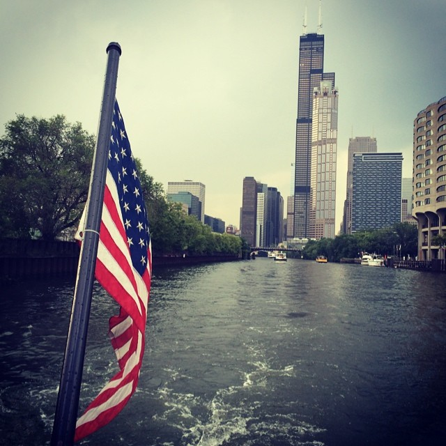 #obligatory #chicagowatertaxi #photo #searstower #watertaxi