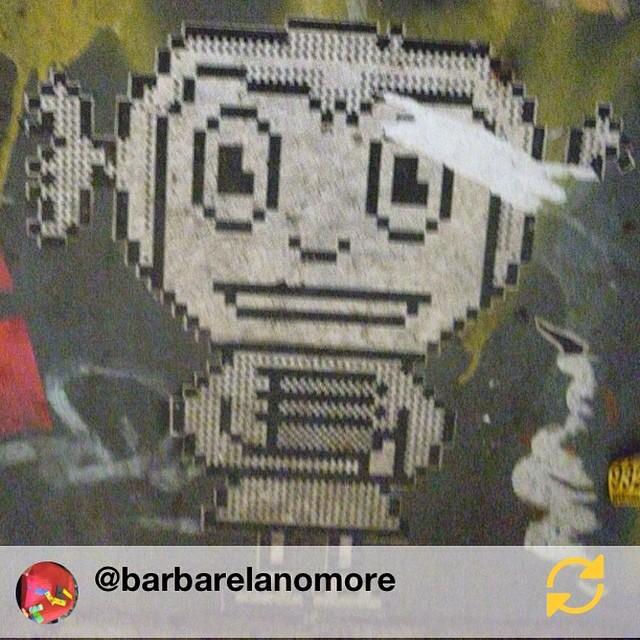 RG @barbarelanomore: #barcelona #streetart #arturba #streetartist #wheatpaste #streetartistry #arteurbano #regramapp