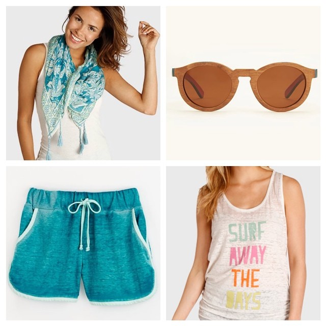 Staples for any #beach #getaway. Pack your bags with T4T #summer essential styles.