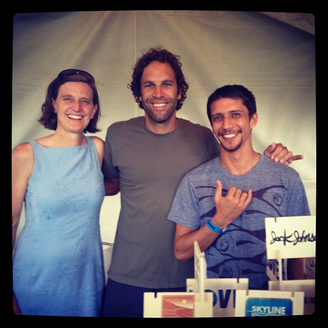 Our development director, Trina, rocked out in #Honolulu this weekend with @jackjohnson & our friends from @patagonia! #loveblue #jackjohnson #fromheretonowtoyou