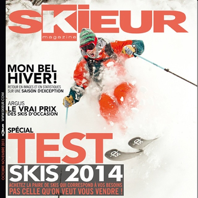 DPS Founder and @patagonia ski ambassador, Stephan Drake gracing the cover of the latest @skieurmagazine - #France. Photo by @oskar_enander. #spoontechnology.