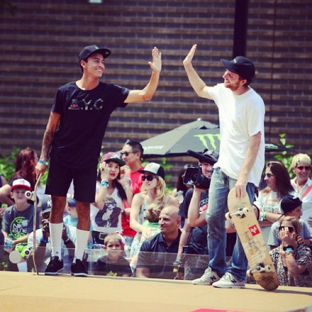 @pjladd used a sick switch double flip to knock his pal @nyjah_huston out of the inaugural #ESPNGameOfSkate.  Hit the link on our profile page to check it out.