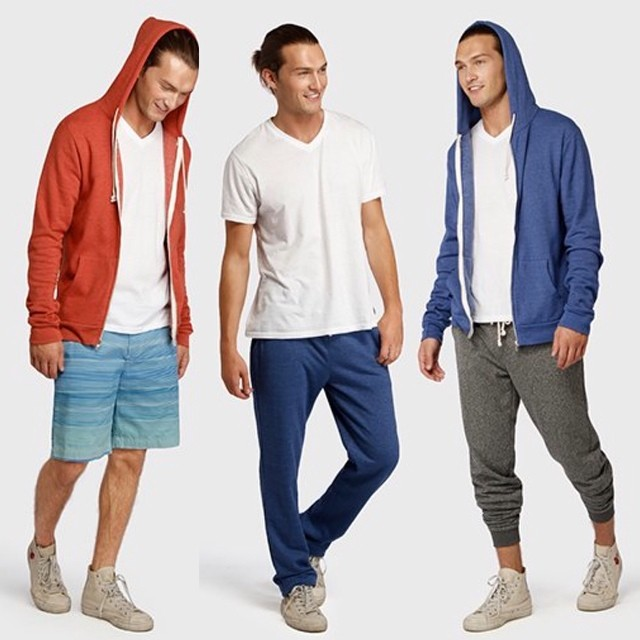 Not a bad lineup of blues to cure the #mondayblues. #guys #summer #style #hoodies #sweats #swim #beach #chucks