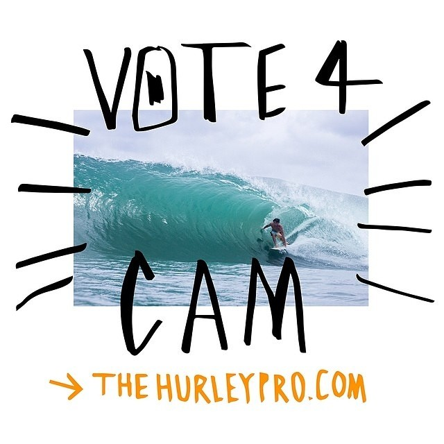 Take a minute to go vote for our fellow right coast'er @camrichards // Slayshing some waves #stzlife #surf #therightcoast #hurleypro #happyshredding