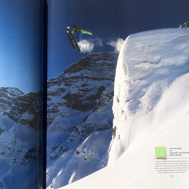 DPS #Koala @pierssolomon getting airborne, this time on his lotus 138s. From the pages of the latest @freeskiermagazine. Photo: @oskar_enander.