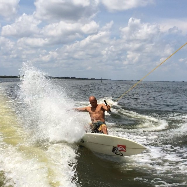 Really looking forward to wakesurfing again - Kelly Slate makes it look easy!