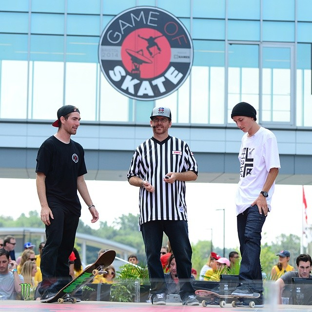 @mikemo and @tom_asta skated for nearly five minutes before either athlete earned a letter.  Hit the link on our profile page to watch the #ESPNGameOfSkate quarterfinal showdown. (Photo via @espn_images)