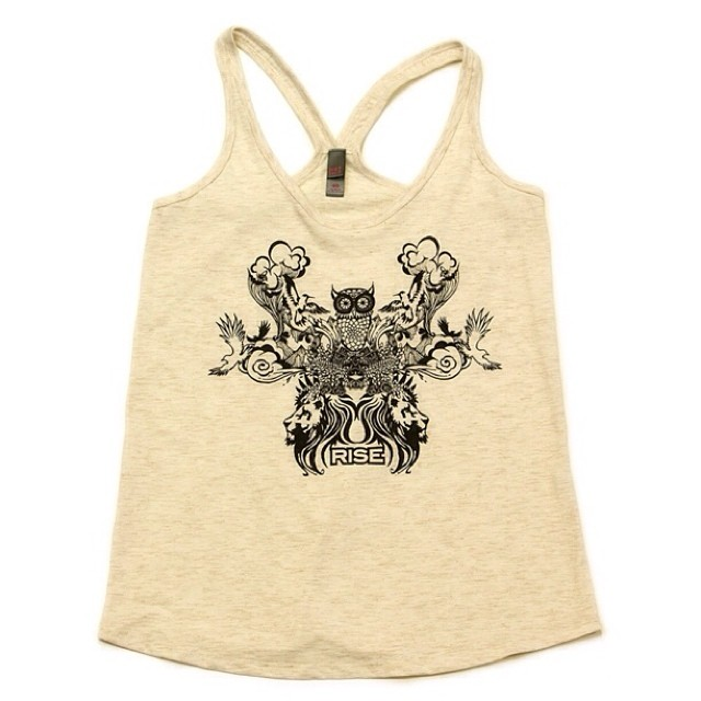 Owl Collage - womens tank top - sizes XS-XL - Natural - available @ risegraphics.com