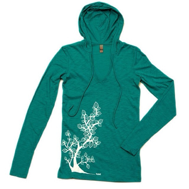 Plant Life - Womens lightweight hoody - Jade - sizes S-XL - available @ risegraphics.com #risedeisgns #natureinspired #risewomens