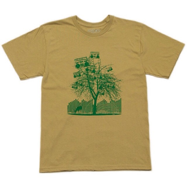 Natures Rhythm - Men's Tshirt - Khaki - Sizes M-XXL risegraphics.com #risedesigns #tshirt