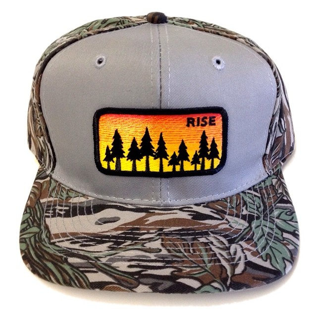 Change it up with our Tree Camo Snapback Hat #risedesigns #snapback #sunrisepatch