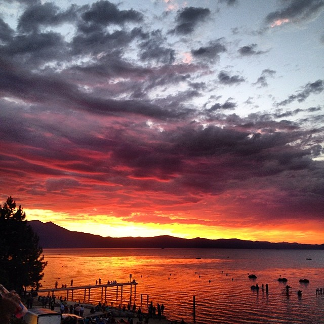 Live at Lakeview last night was.... Epic. Thanks to everyone who out came out and enjoyed this sunset with us. Have a great weekend. #risedesigns #sunset #tahoe #liveatlakeview
