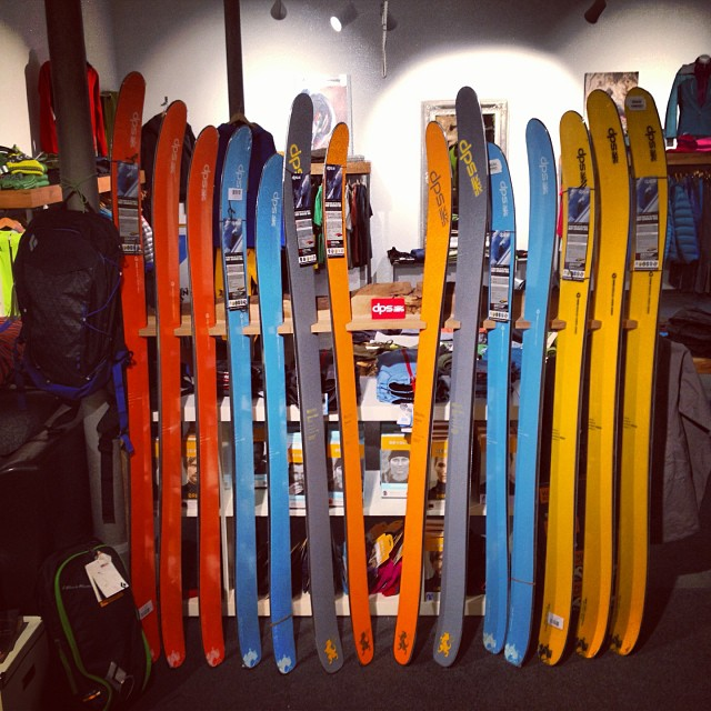 DPS' #pure3 construction has landed in #Germany. Swing by Siurana ski shop to view some of the latest offerings by #DPS #skis.