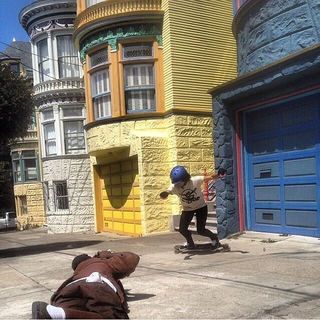 @carlajavier.b slashing SF with @khaleeqovision #staysteez #keepitholesom