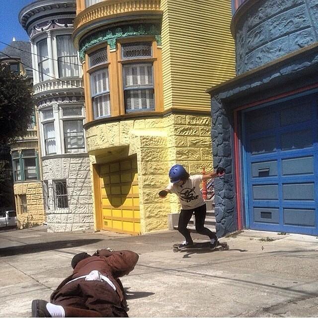 @carlajavier.b slashing SF with @khaleeqovision #staysteez #keepitholesom