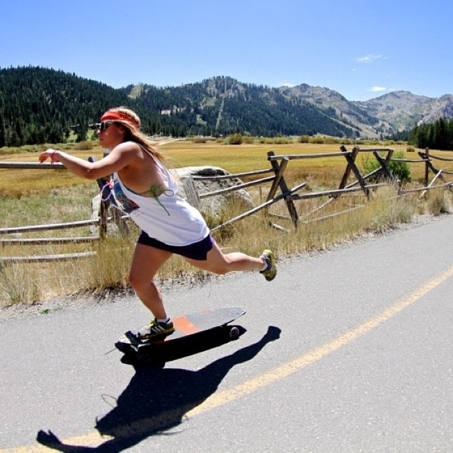SKATE THE LAKE is coming!! Have you registered online yet for our 28 mile push around gorgeous #LakeTahoe?? Sign up to participate and fundraise for B4BC at www.b4bc.org/skatethelake !! #skatethelake  Pictured: @therealdaisy Photo: @mahfia_tv