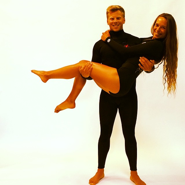 ~Having fun at our @surfline wetsuit photoshoot. Huge thanks to our models @sclove90 @aschnitty ~ #HotlineWetsuits #SantaCruz #Surfline #BuyersGuide