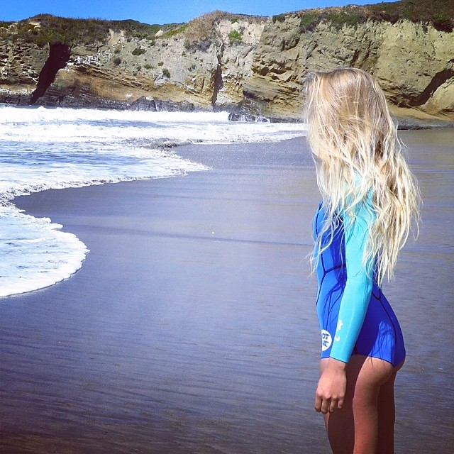 ~Midsummer day's dream~ #BootySuit #Blond #Babe #HotlineWetsuits #SantaCruz #CaliforniaSummer