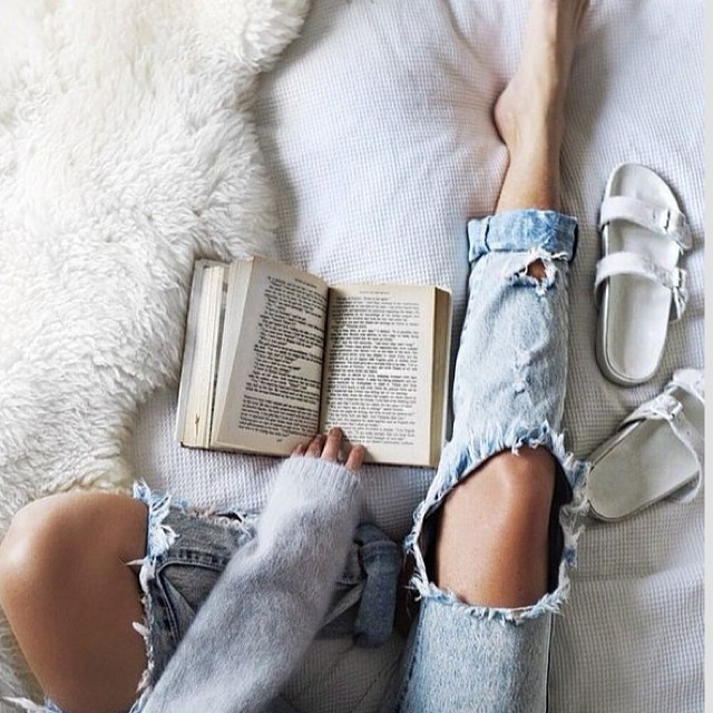 It's a grayish Sunday afternoon with no waves and this is what we feel like doing #bestill #read #book #quiet #allswell