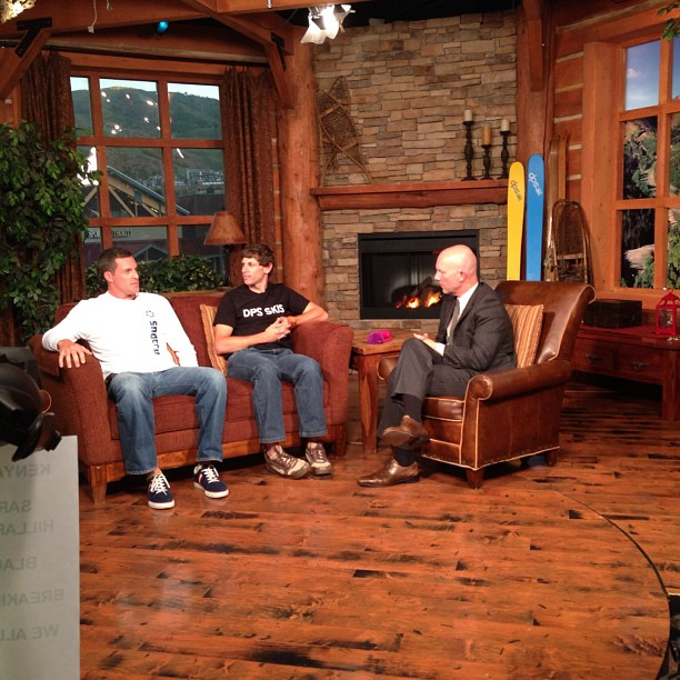 Chatting about DPS skis on @parkcitytv with @snocru and @snocru_ed. Good times, snow will be flying soon enough. #dps #madeintheusa.