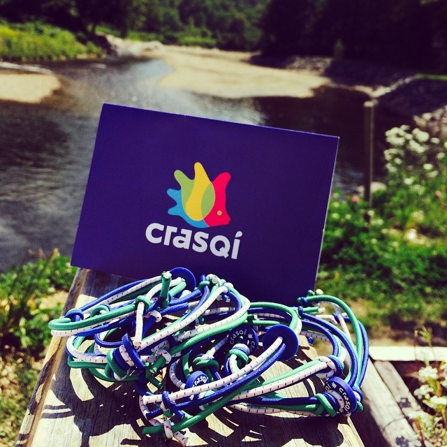 Big thanks to @crasqi for our awesome new team bracelets! #loveblue #1percentftp