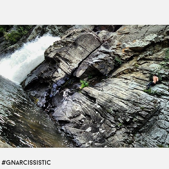 Don't forget to climb a waterfall this summer. #goal #exploremore #GNARCISSISTIC  PC: @dead_head93  Place: Linville Falls, NC