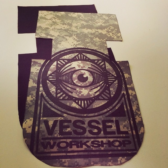 Got a #tour of @vesselworkshop today. #Handmade #builttolast #courierbags and #urbancycling accessories crafted in #Milwaukee. Check them out at vesselworkshop.com. #camoallday