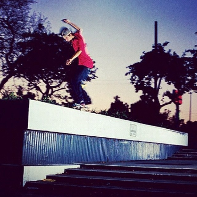 @chris_roberts1 went coast to coast on this nosegrind at the Courthouse. Can't believe it's a go again