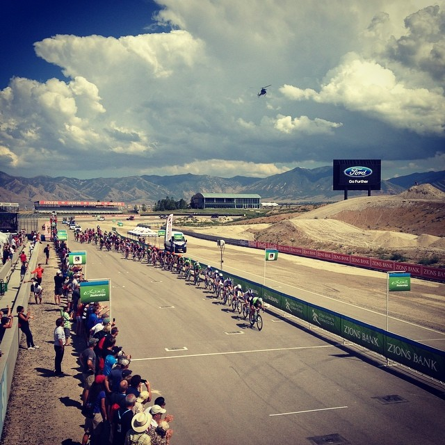 One lap to go for the men here at @thetourofutah !!