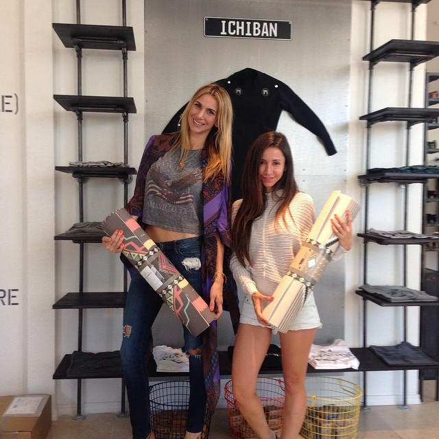 Much Love To The Lovely Ladies At La Vie Boheme @laviebohemeyoga For Stopping By The Black Spot : Come Check Out Their New Product Line At The Black Spot #lovematuse